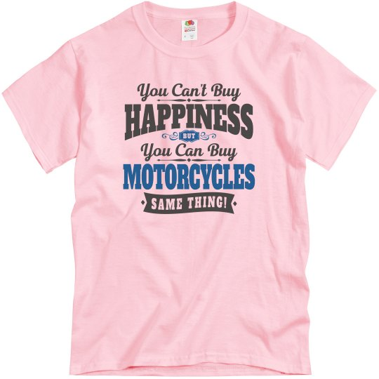 Motorcyclist Can't Buy Happiness Can Buy Motorcycles Bi