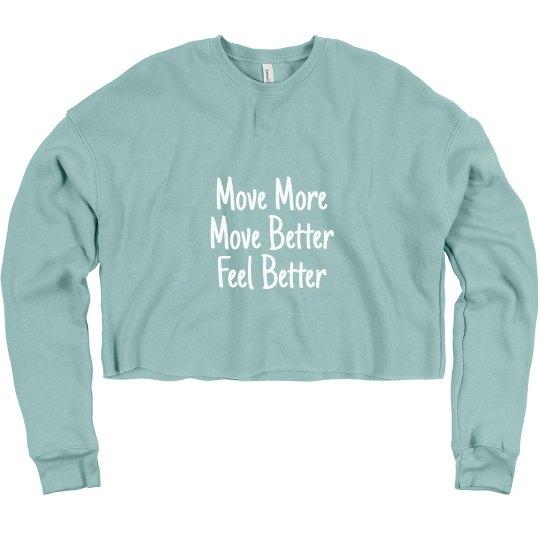 Move More Crop Sweatshirt
