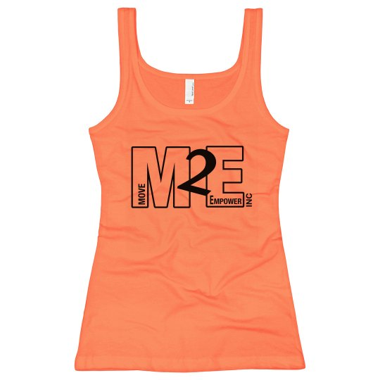 Move To Empower Ladies Slim Fit Longer Length Neon Tank