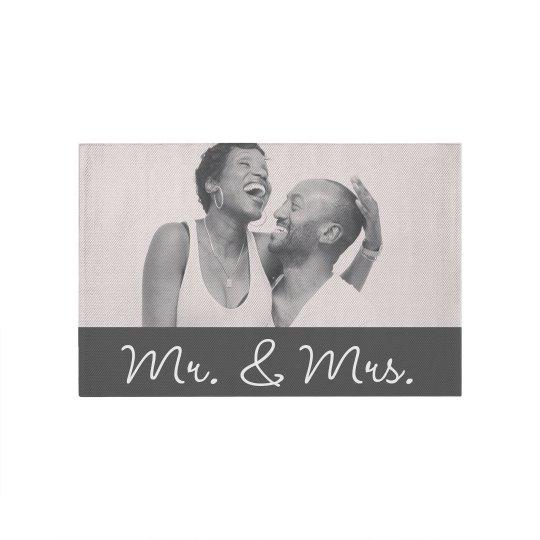 Mr. & Mrs. Couples Custom Rug