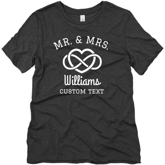 Mr. & Mrs. Custom Virtual Wedding Tees