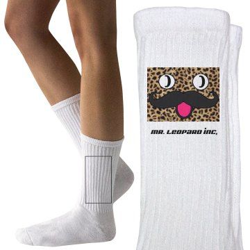 Mr leopard youth socks