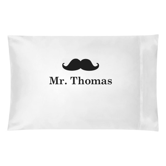 Mr. Mustache Pillow Case