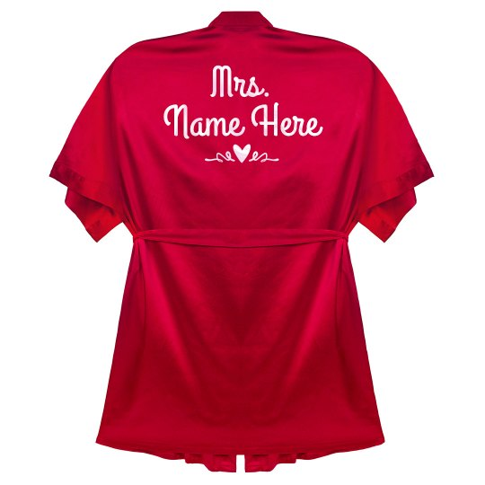 Mrs. Name Valentine Heart Robe