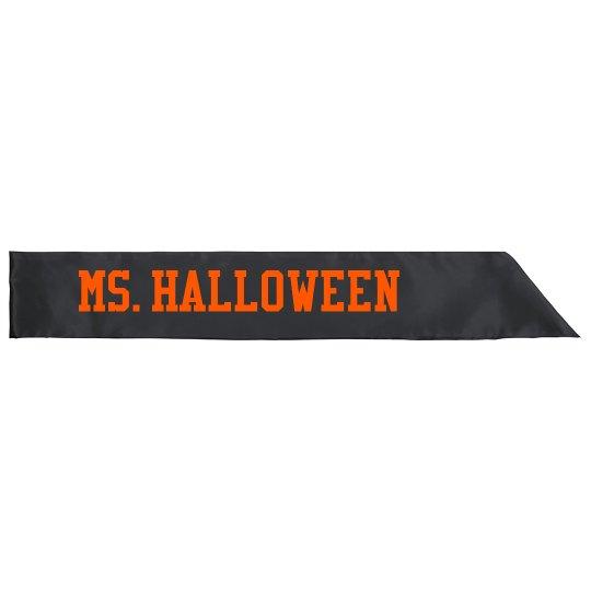 Ms. Halloween Sash