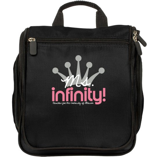 MS. INFINITY Logo Make-up Bag