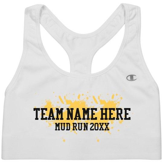 Mud Run Custom Team Sports Bra