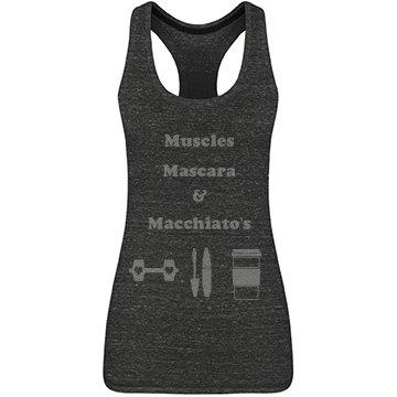 Muscle Mascara Macchiato Tank