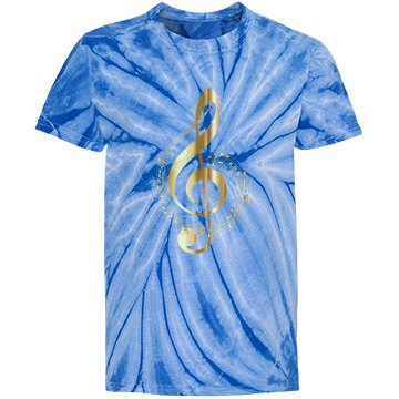 Music notes blue top