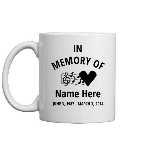 Musical Heart Memorial Mug