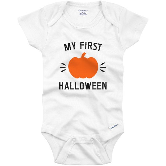 My 1st Halloween Baby Pumpkin Bodysuit