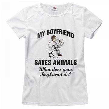 My boyfriend save animals
