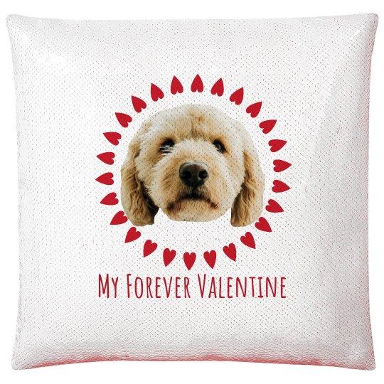 My Doggie Valentine Custom Photo Pillow