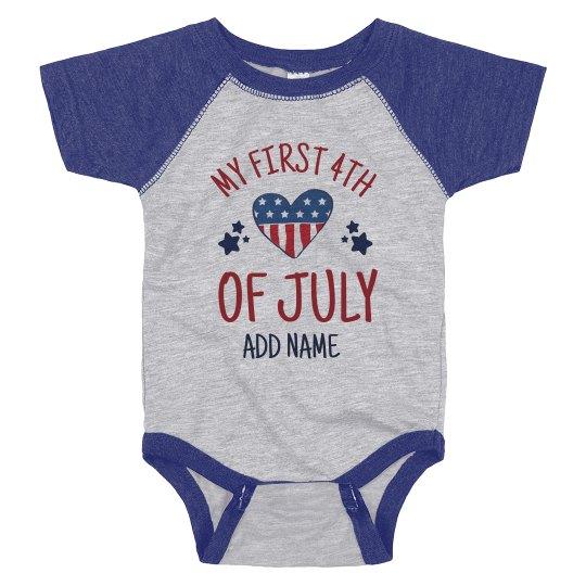 My First July Fourth Baby Bodysuit