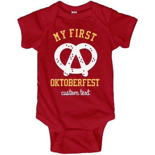 My First Oktoberfest Custom Infant Bodysuit