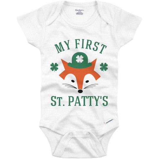 My First St Pattys Cute Baby Fox