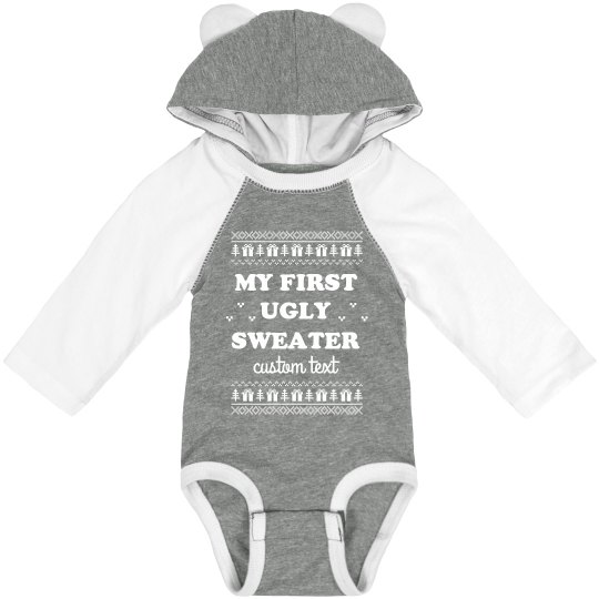 My First Ugly Sweater Custom Baby