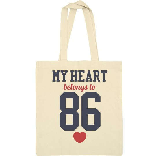 My Heart Belongs To 86 Mom Tote