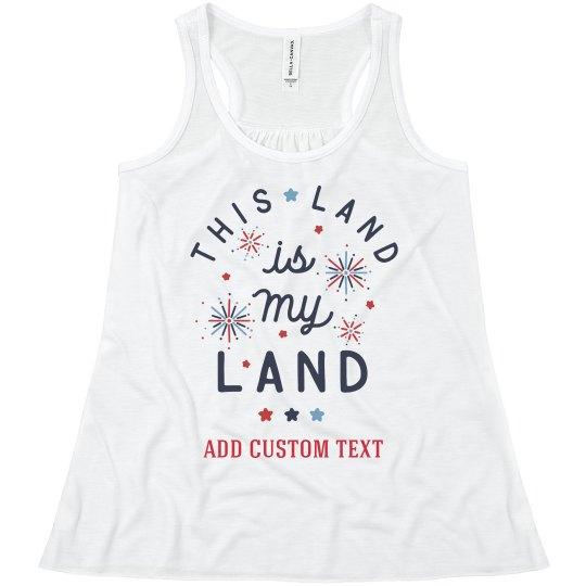 My Land Custom Text Tank