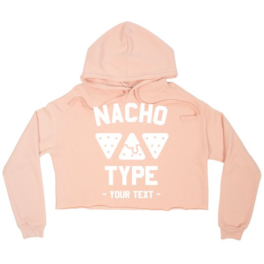 Nacho Type Custom Crop Sweatshirt