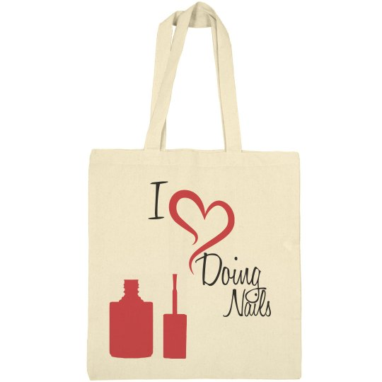 Nails Canvas Bag