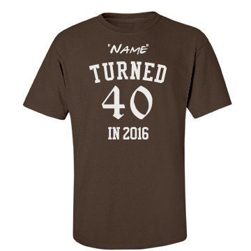 """Name"" turned 40 in 2016"
