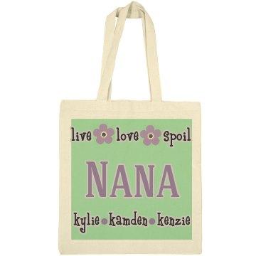 Nana Personalized Tote Bag Gift