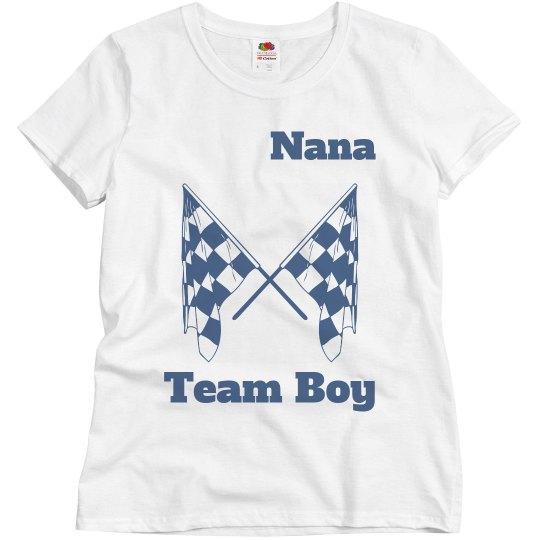 Nana's gender reveal shirt
