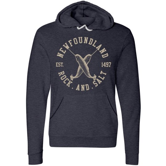 Narwhals rock and salt hoodie
