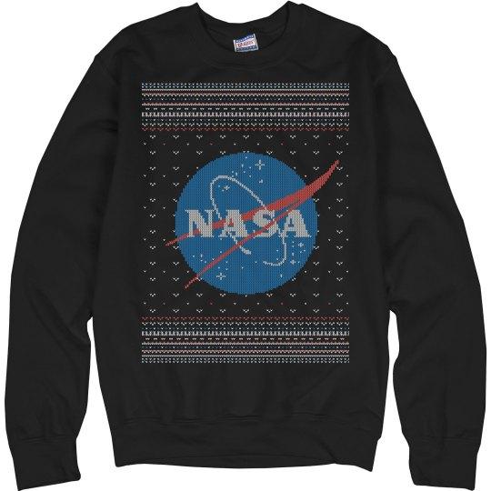 NASA Vintage Christmas Sweater