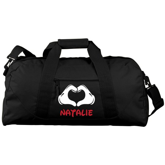 Natalie's Custom Cheer Gear Bag With Custom Name