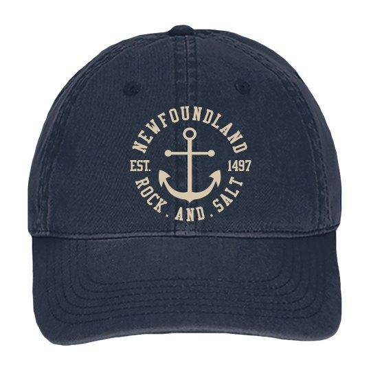 Navy canvas rock and Salt cap