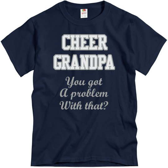 Navy Cheer Grandpa Tee