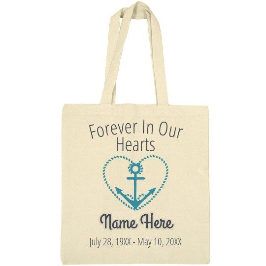 Navy Memorial Tote Bag