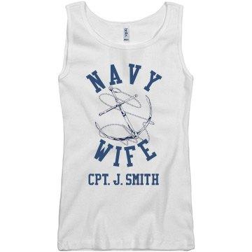 Navy Wife Custom Text