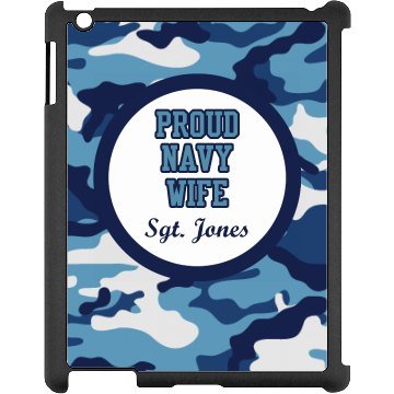 Navy Wife iPad Case