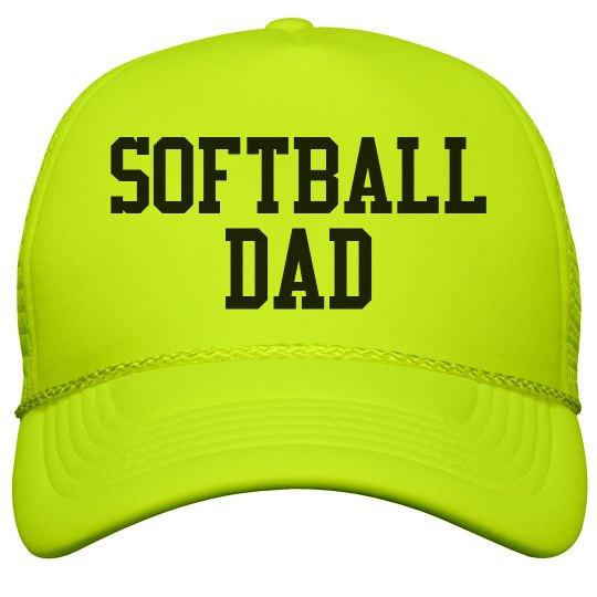 Neon Hat Softball Dad Fan