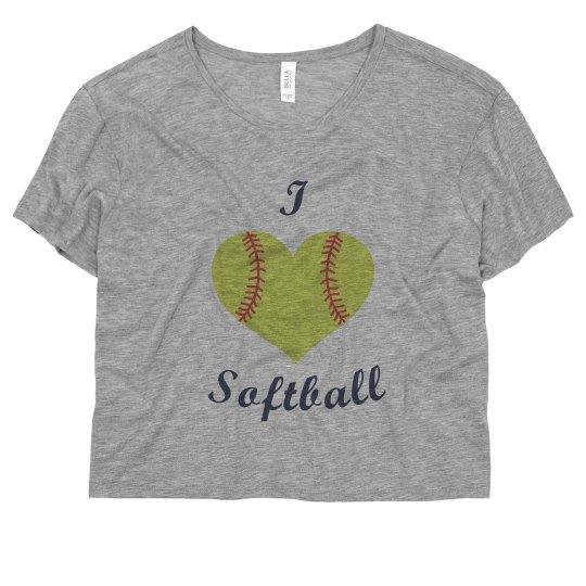 Neon I Love Softball