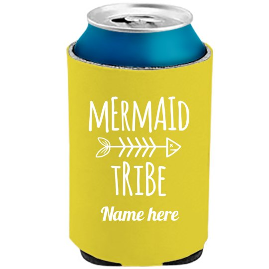 Neon Koozie Mermaid Bride Tribe