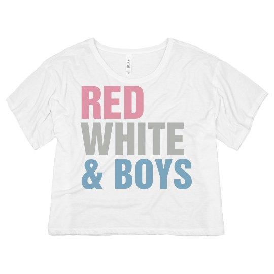Neon Red, White & Boys