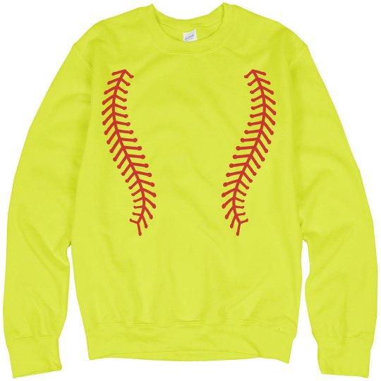 Neon Softball Laces