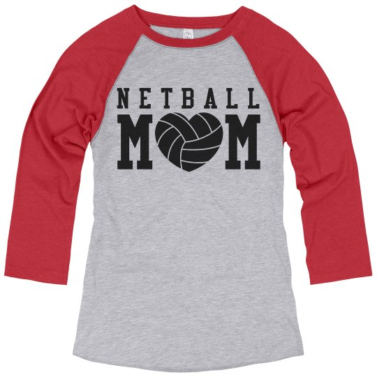 Netball Mom Shirts With Custom Name Number