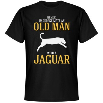 Never underestimate a old man with a jaguar