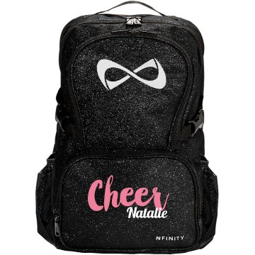 nfinity sparkle backpack cheer bag with custom name this