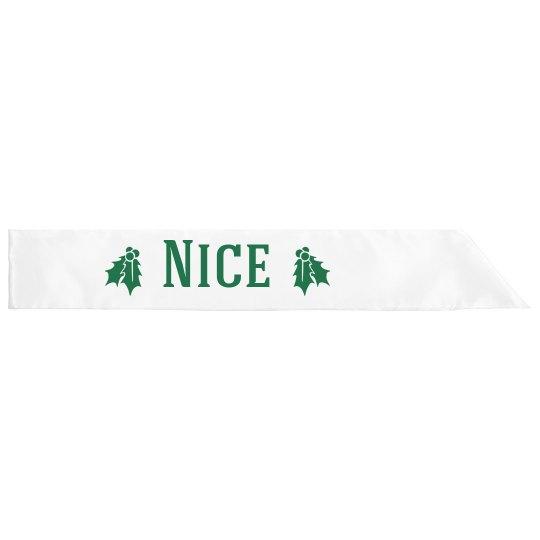 Nice Christmas Sash
