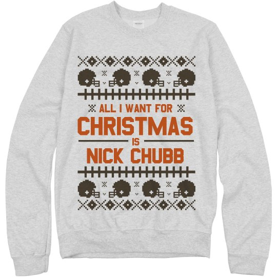 Nick Chubb For Christmas Sweater