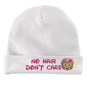 No hair don't care Baby hat