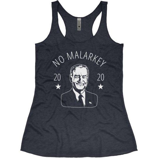 No Malarkey 2020 Joe Biden Election Tank