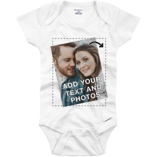 No Minimum Custom Baby Onesie Full Color Printing