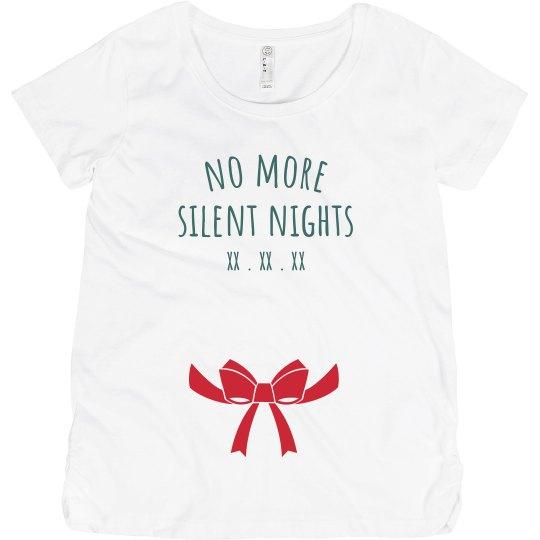 No More Silent Nights Maternity Christmas